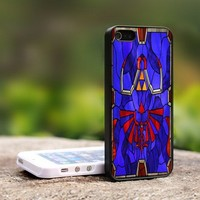 The Legend Of Zelda Stained Glass - For iPhone 4,4S Black Case Cover