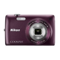 Nikon COOLPIX S4300 16 MP Digital Camera with 6x Zoom NIKKOR Glass Lens and 3-inch Touchscreen LCD (Plum)