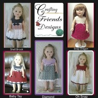"Pattern: 18"" Doll Dress Collection"