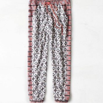 AEO Women's Soft Printed Jogger (White)