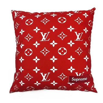 DCKKID4 Louis Vuitton Supreme red monogram box cushion LV SUP