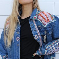 """Dancing Queen"" Vintage Denim Jacket"