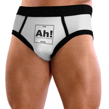 Ah the Element of Surprise Funny Science Mens NDS Wear Briefs Underwear by TooLoud