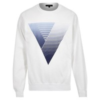 V Striped Design Sweatshirt by River Island