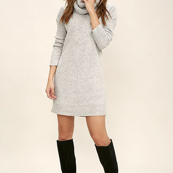 Tea Reader Light Grey Sweater Dress