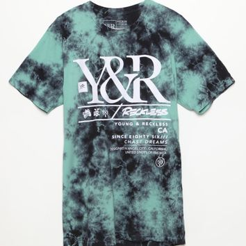 Young & Reckless Yuma Ice T-Shirt - Mens Tee - Green
