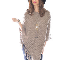 Cable Sweater Poncho