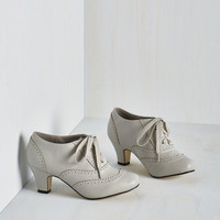 Vintage Inspired Dance It Up Heel in Dove
