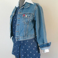 American Flag Denim Jacket Grunge Vintage
