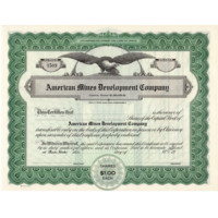 Vintage Idaho Mining Stock - Late 1920's Capital Stock Certificate - Unissued