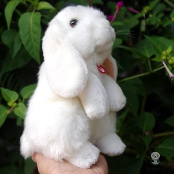 White Rabbit Stuffed Animal Plush Toy 8""