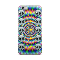 Alien & Glowing Star Emoji Collage Trippy Tie Dye iPhone 4 4s 5 5s 5C 6 6s 6 Plus 6s Plus 7 & 7 Plus Case
