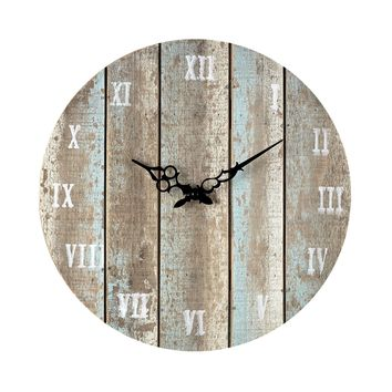 128-1009 Wooden Roman Numeral Outdoor Wall Clock.