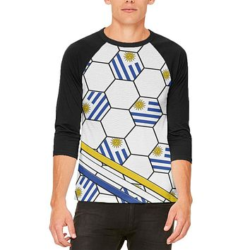 World Cup Uruguay Soccer Ball Mens Raglan T Shirt