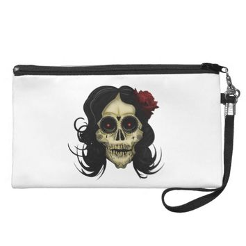 Day Of The Dead Wristlet Purse