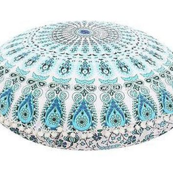 ONETOW 32' Round Mandala Tapestry Floor Pillows Cover Meditation Cushion Covers