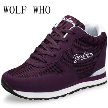 WOLF WHO Summer High Heel Women Krasovki Ladies Platform Shoe 2017 Tenis Feminino Casual Chaussure Femme x367