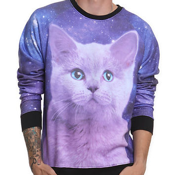 Space Kitty Crewneck Sweatshirt | Hot Topic