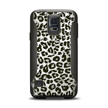 The Neutral Cheetah Print Vector V3 Samsung Galaxy S5 Otterbox Commuter Case Skin Set