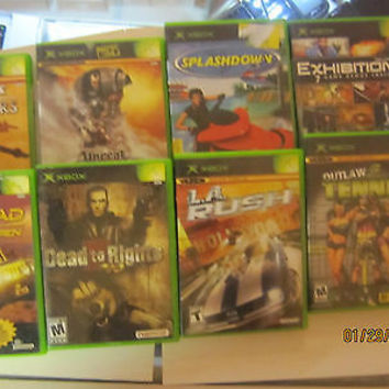 XBOX GAMES  8 TOTAL