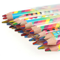 Rainbow Colored Pencils (24 Pack) Craft Supplies Rainbow Colours Color Pencils Colors Of the Rainbow Colour Pencils Colors of Rainbow
