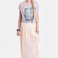 Falling From Grace Pleated Maxi Skirt