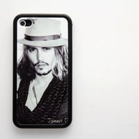 Rubber Case johnny depp iPhone 4/4s case