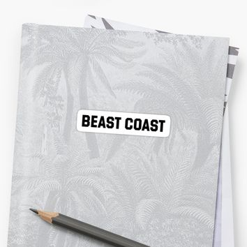 'BEAST COAST' Sticker by Snibel