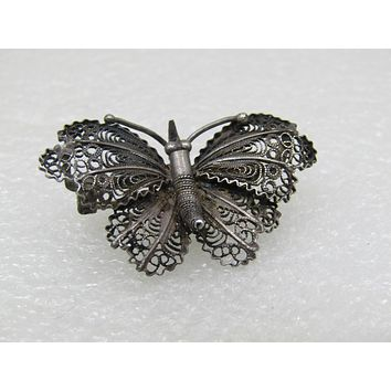 8cf5f09b17e57 Shop Filigree Butterfly Brooch on Wanelo