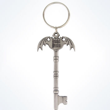 Disney Parks Haunted Mansion Metal Key Keychain New With Tags