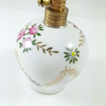 Vintage Perfume Bottle, Hand Painted Floral Made in Japan by  Rice