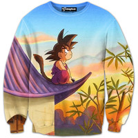 Son Goku Sunset Crewneck