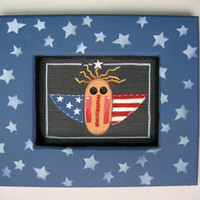 Americana Raggedy Angel Tole Painted and by barbsheartstrokes
