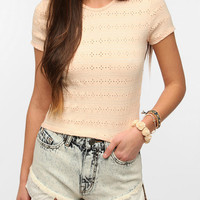 Urban Outfitters - Neon Moon Daisy Eyelet Tee