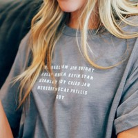 Friday + Saturday The Office Tee