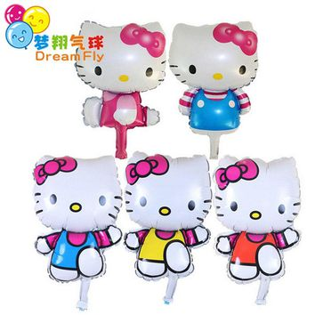 5PCS/lot Baby Shower hello kitty helium foil Balloons Girls Birthday Party Decoration Inflatable Air Balloons