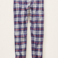 Aerie Women's Flannel Sleep Jogger (Indigo Waters)
