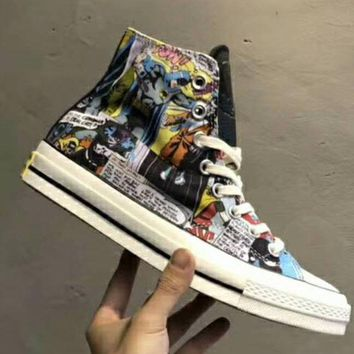 DC Comics x Converse Top Men and Women Casual Graffiti Fashion Shoes F-CSXY