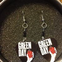 green day grenade guitar pick earrings