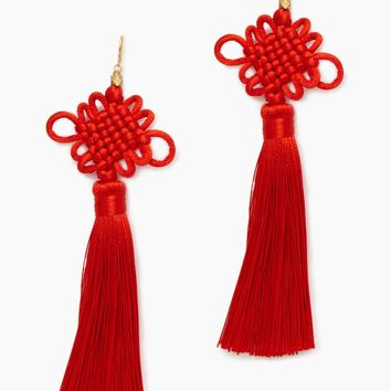 The Chinese Good Luck Tassels Red - Red