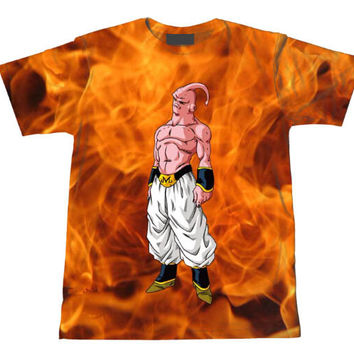 Majin Buu Dragon Ball Z Tie Dye Bleach Flaming T-Shirt