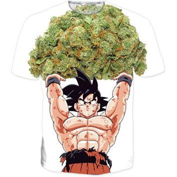 Classic Anime Dragon Ball Z Super Saiyan T shirts Women Men Hipster 3D T shirt Goku/Vegeta tshirts Summer Casual tees CTE-019
