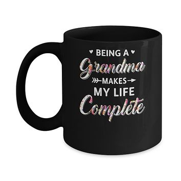 Being A Grandma Makes My Life Complete Mothers Day Mug