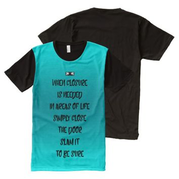 Closure Quote by Kat Worth Men's All-Over-Print T-Shirt