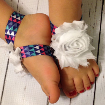 Baby Barefoot Sandals... Newborn Toddler Barefoot Sandals
