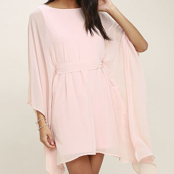 Heavenly Being Blush Pink Kaftan Dress