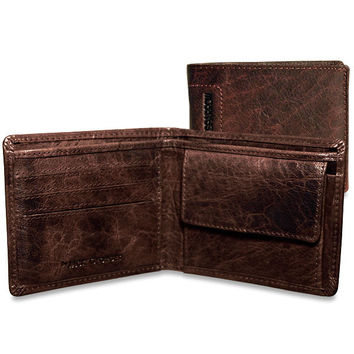Jack Georges Spikes & Sparrow Bi-Fold Coin Pocket
