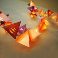 Paper Pyramid Light Garland - Desert Sunset with Die Cuts - Short Strand