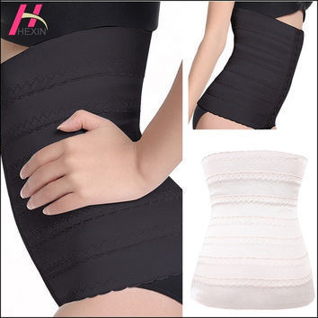 HEXIN Black Beige Waist Shaper Corset Bustier Slimming Belt Waist Trainer Cincher Firm Girdle Body Shapers For Women Tummy Control = 1696881860
