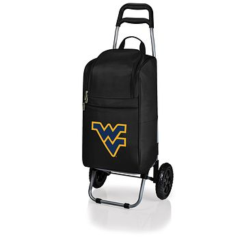 West Virginia Mountaineers Cart Cooler with Trolley